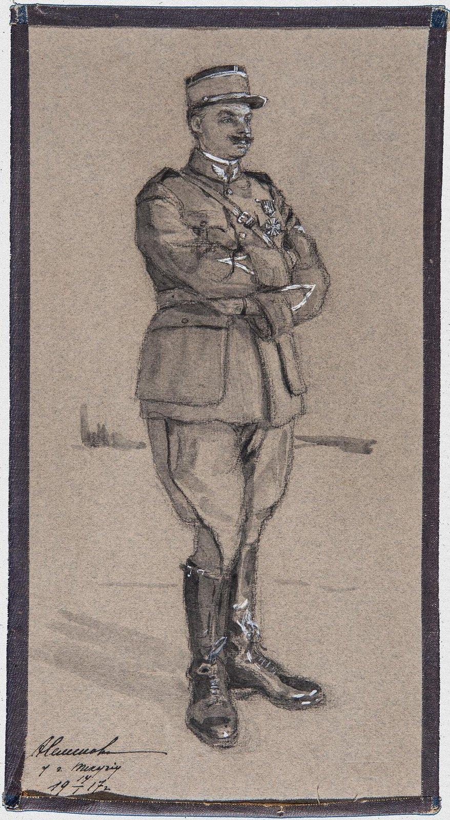 1917. Французский летчик в Румынии