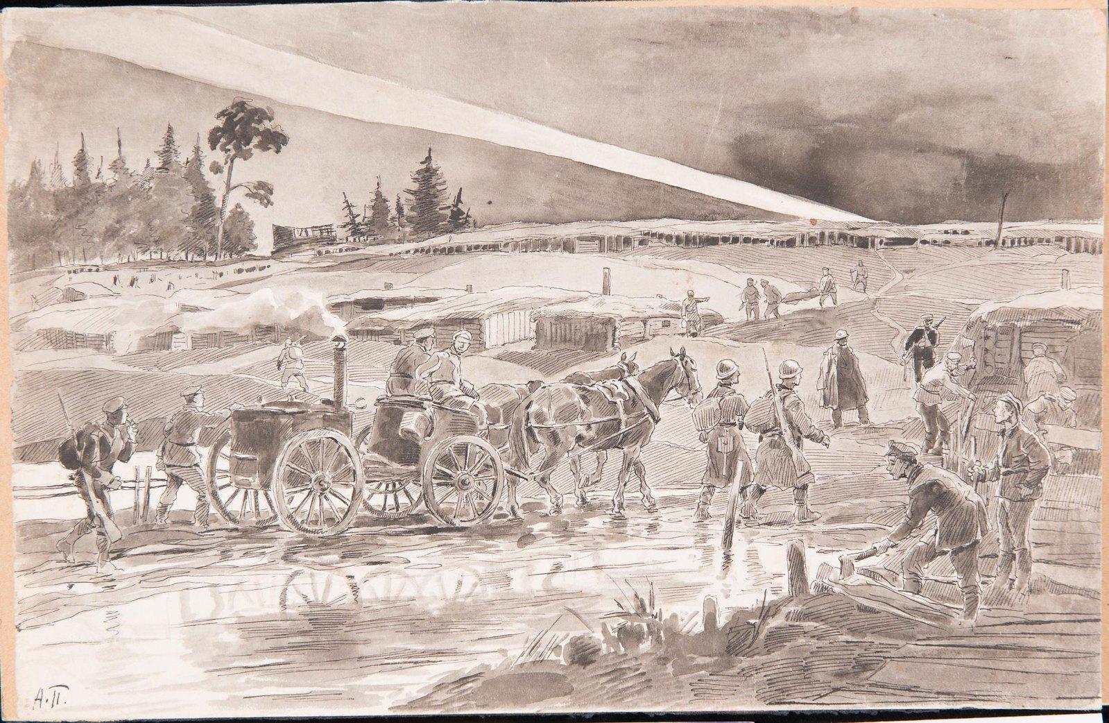 1916. На позиции под Брзежанами