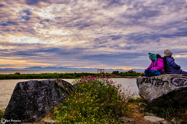 Garry  Point Park at Blue Hours, Richmond, BC, Canada