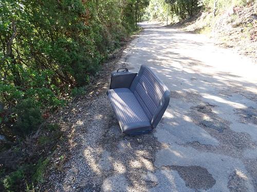 Siège de voiture sur la route de Taddu Russu