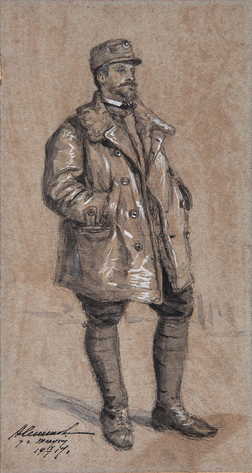 1917. Румынский офицер