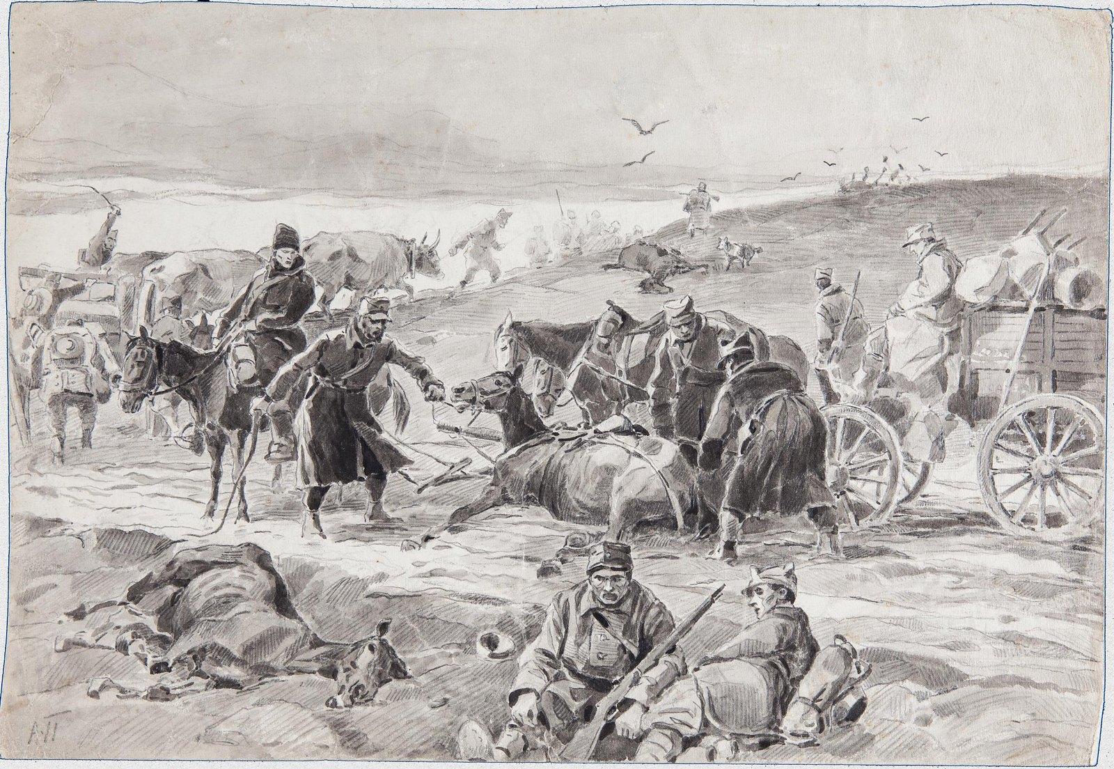 1916. Отступление румынских войск