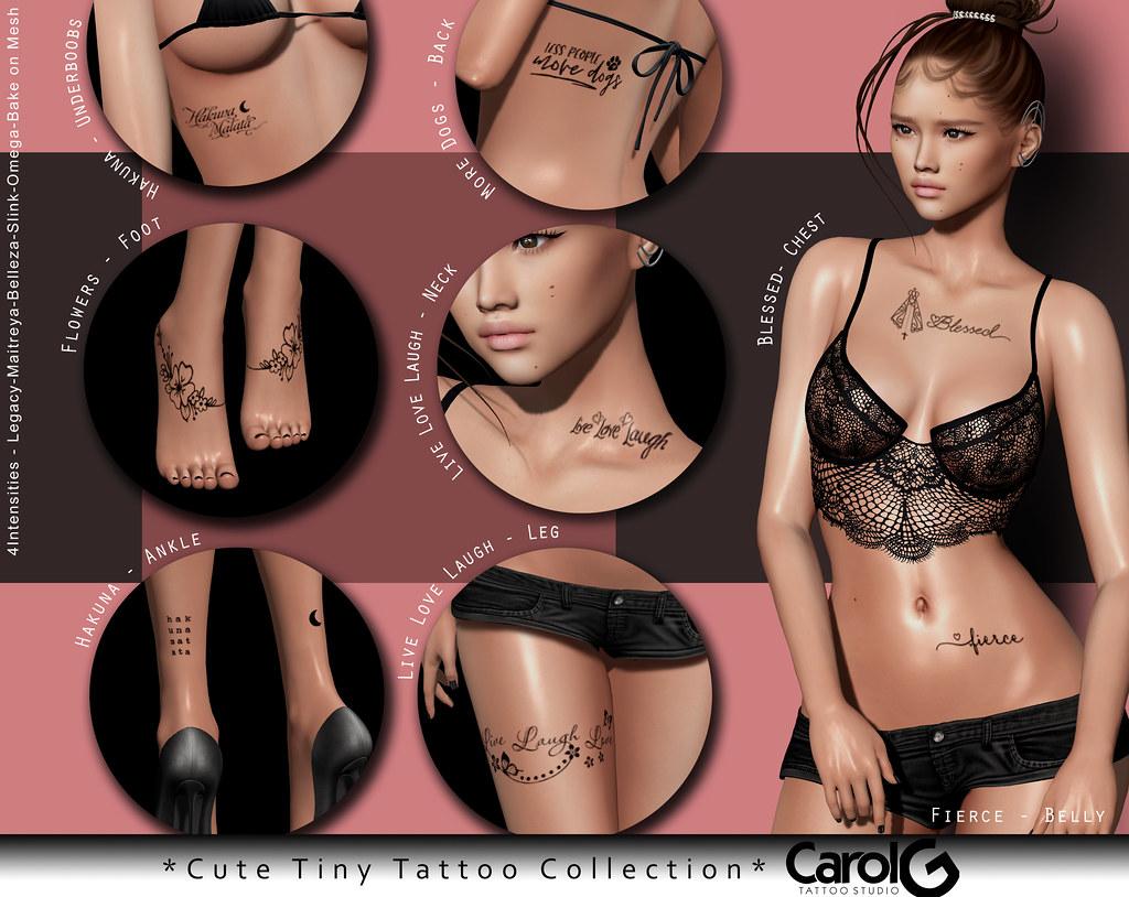Cute Tiny Tattoo Collection [CAROL G]