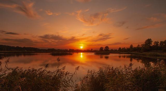 sunset on the lake ...
