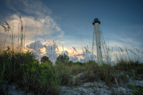 lighthouse sunset sun gasparillaislandlighthouse bocagrande landscape beach gulf florida fl fla gasparilla island