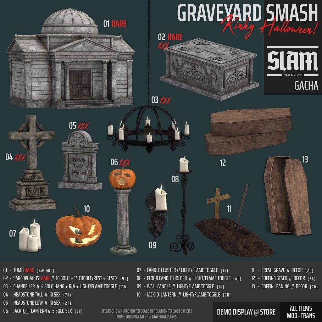 SLAM // graveyard smash // gacha @ THE ARCADE Spooktacular