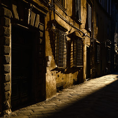 Morning Light on City Streets - Lucca