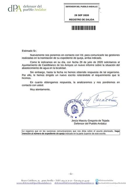 Defensor - escrito - Castilblanco