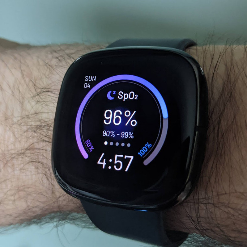The SpO2 watchface of my new Fitbit Sense