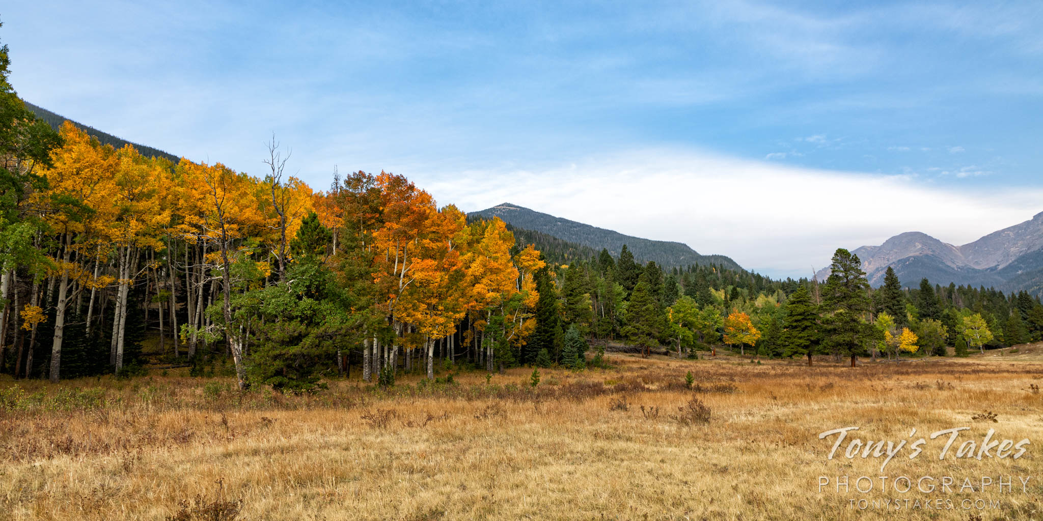 A fall landscape in Rocky Mountain National Park