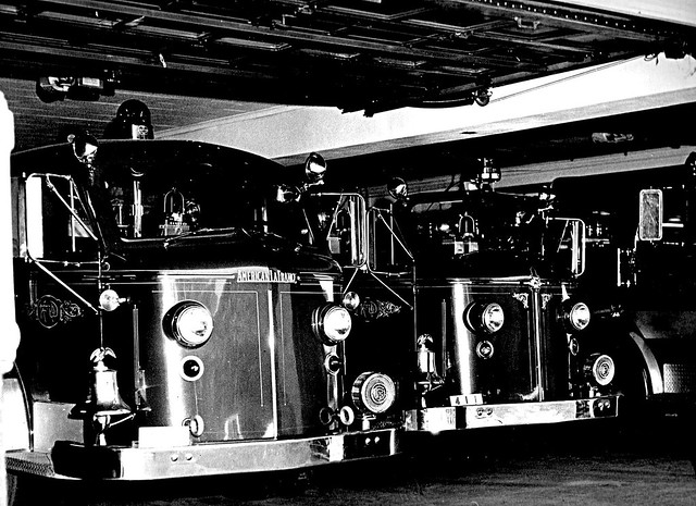 Two Familiar faces of American LaFrance .fire  apparatus from our youth.