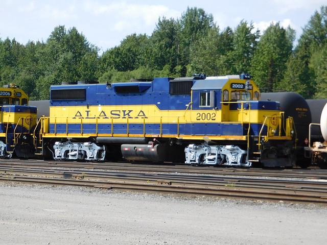 Alaska railroad GP38-2  _  Anchorage yard