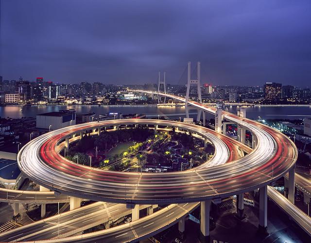 Shanghai Nanpu Bridge Provia 100F - 03-Oct-2020