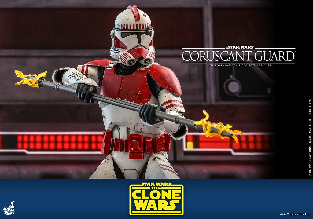 Hot Toys《星際大戰:複製人之戰》科羅森守衛 1/6 比例人偶