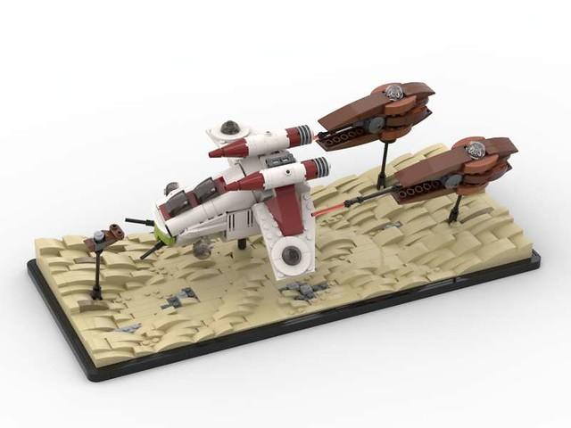 Lego Star Wars Dooku Speeder Chase MOC