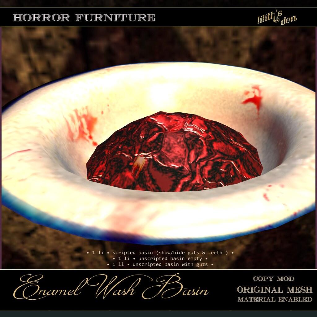 Lilith's Den – Enamel Wash Basin