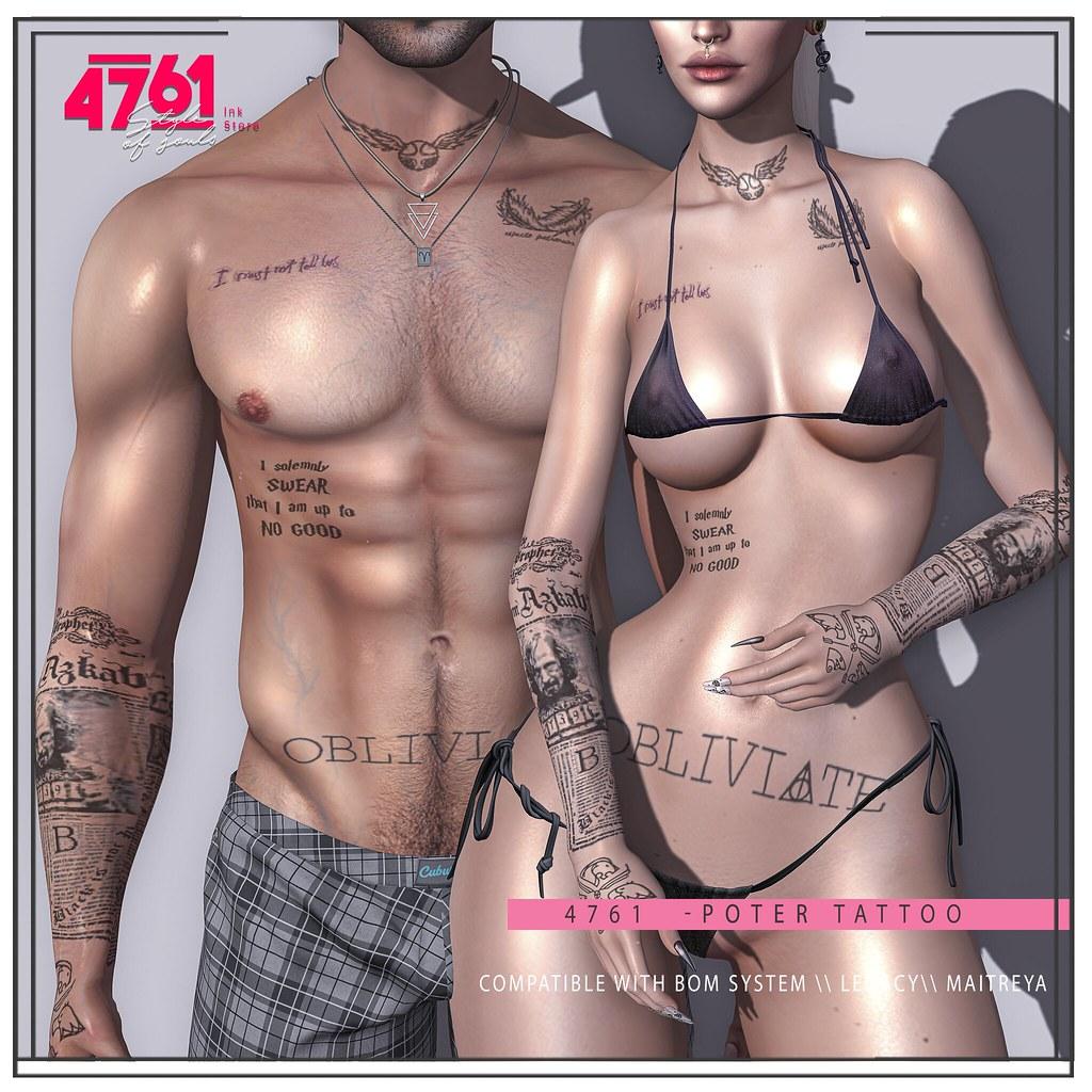 4761 -Potter Tattoo