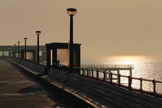 Deal Pier shimmering not long after dawn