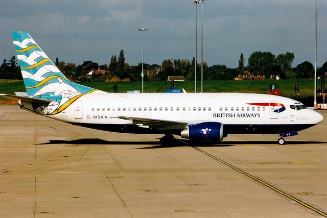 British Airways (Maersk Air) | Boeing 737-500 | G-MSKA | Blue Poole | Birmingham International
