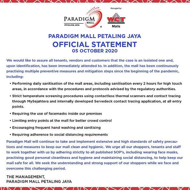 covid paradigm mall