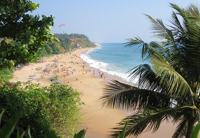 Kerala - Varkala Beach - View from the Cliff