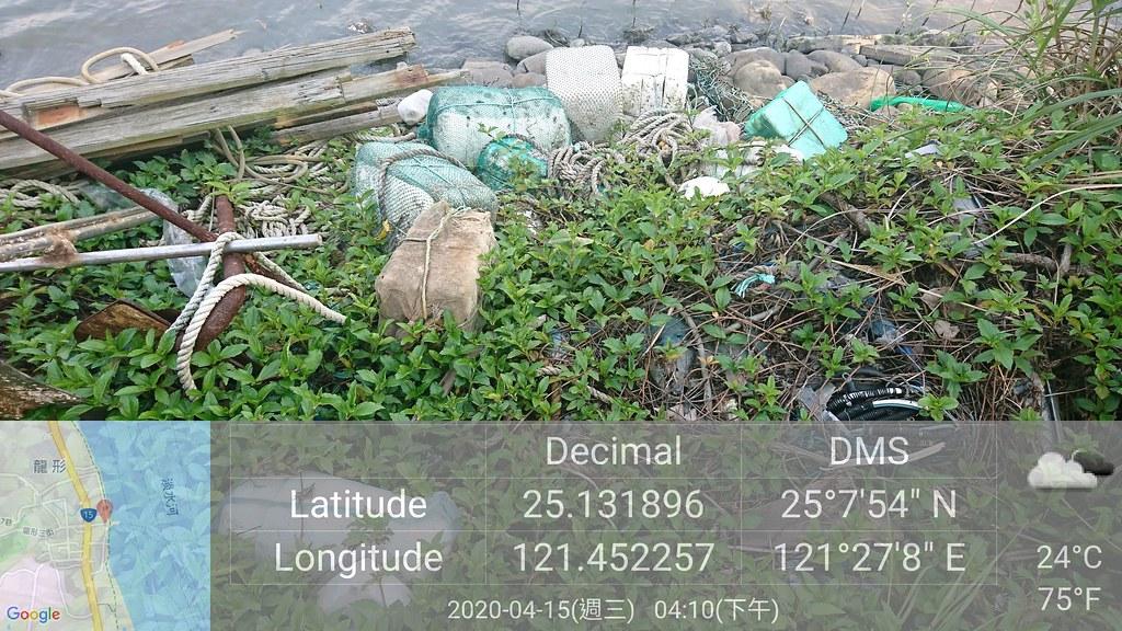 調查員於快篩調查中,除了累計垃圾數量之外,一旦發現廢棄物熱點時,也使用智慧手機進行記錄,將有座標的影像上傳資料庫。