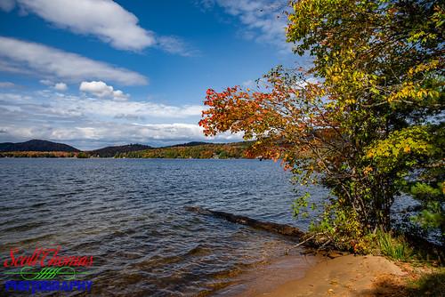 adirondackpark arrowheadpark autumn blue clouds fallcolor fourthlake inlet newyork sky trees water nikond750 nikon24120mmf4vr lake
