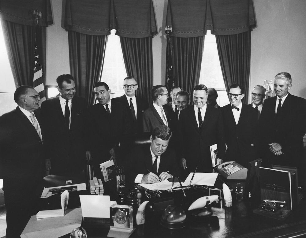 photo of kennedy signing legislation
