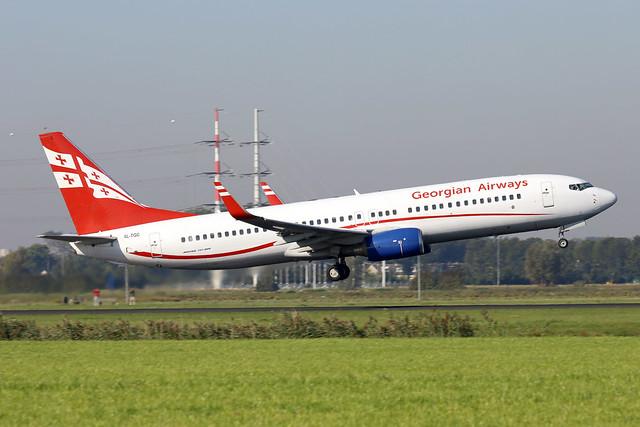 Georgian Airways B737-800 4L-TGC departing AMS/EHAM