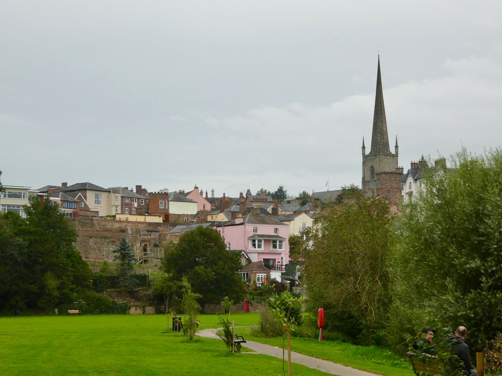 The Gothic spire of Ross-on-Wye parish church