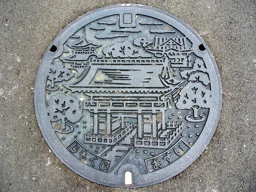 Jimokuji Aichi, manhole cover (愛知県甚目寺町のマンホール)
