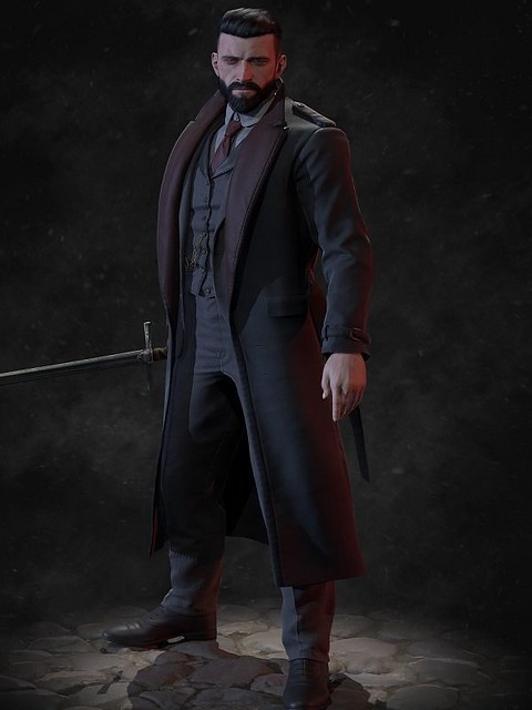 Video Game Vampyr Jonathan Reid Cosplay Coat