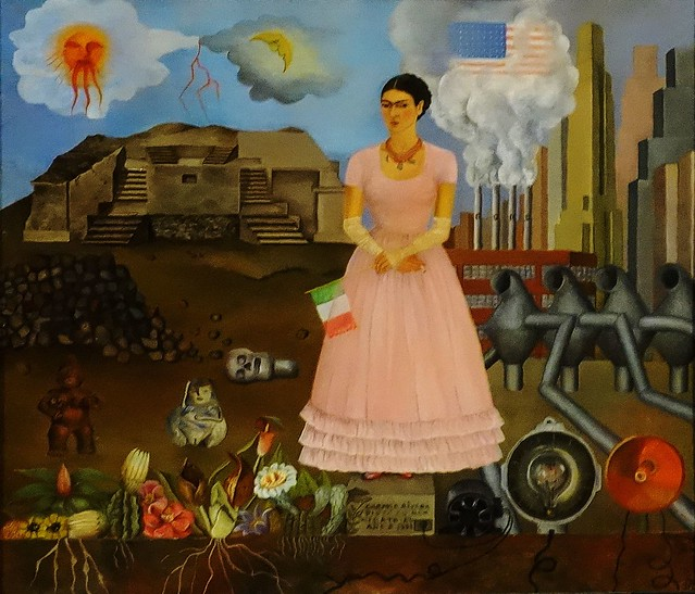 Frida Kalho - Autorretrato en la frontera entre México y los Estados Unidas - Self-Portrait on the Borderline between Mexico and the United States - 1932 -  Louisiana Museum of Modern Art
