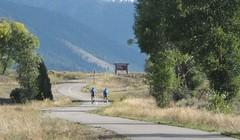 Bike riders at a National Wildlife Refuge