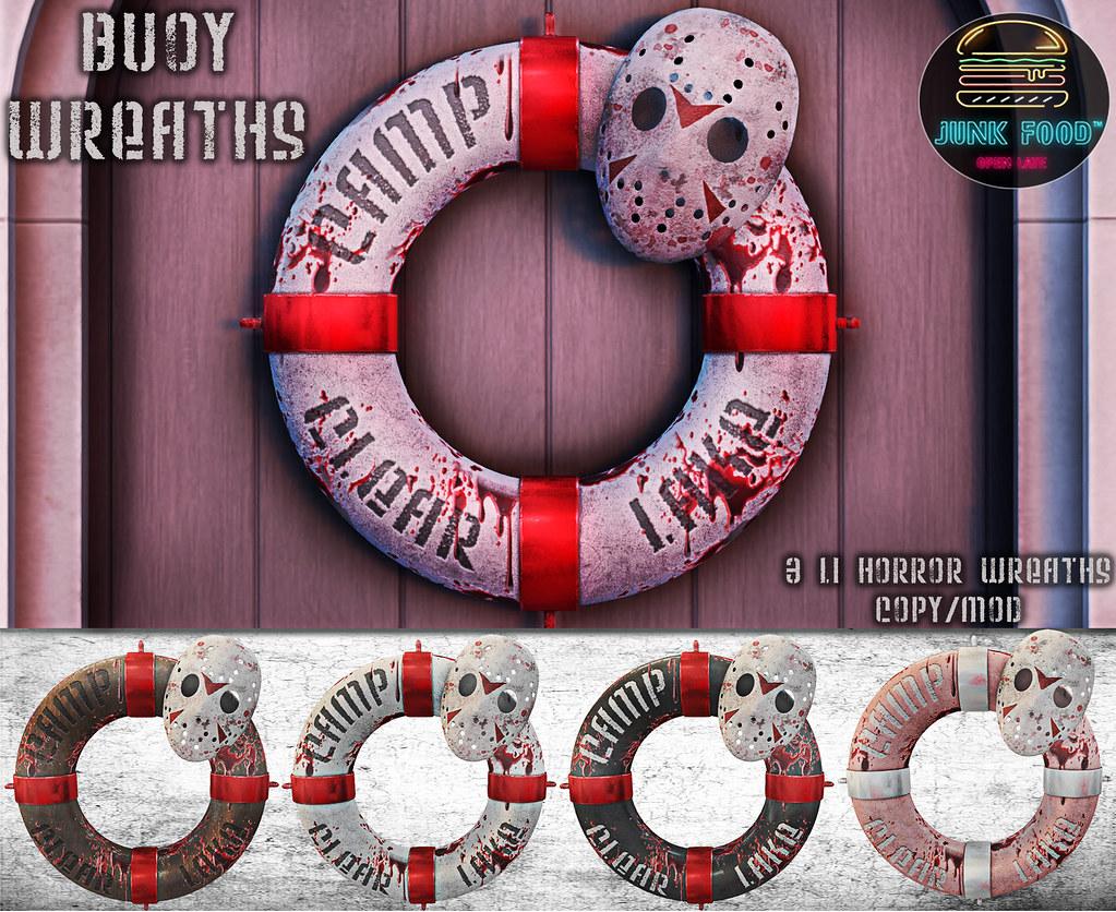 Junk Food - Buoy Wreaths Ad