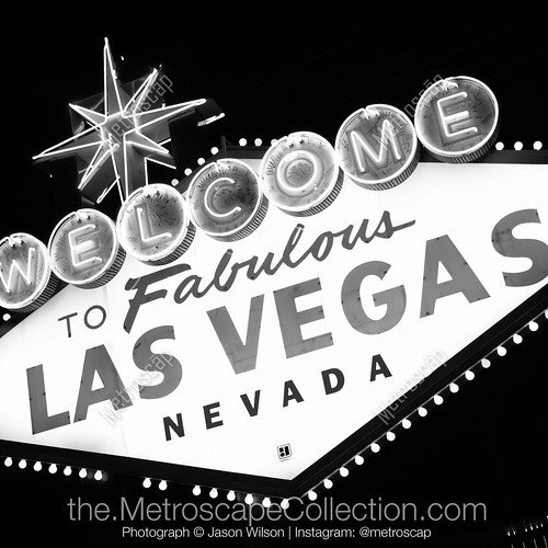 las-vegas-black-white-vegas-sign-at-night-square-207-metroscapeCollection.jpg | by metroscapeCollection-black-and-white-cities