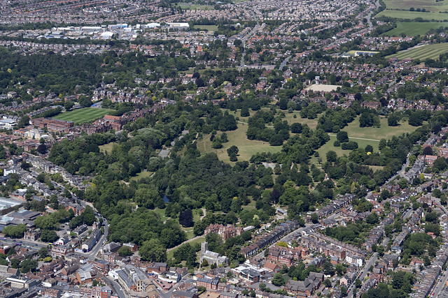 Ipswich aerial image - Christchurch Park