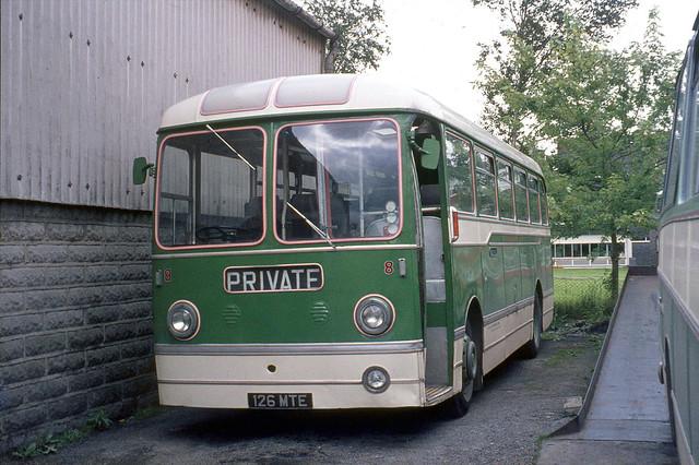 Daniel Jones . Carmarthen Garage , South Wales . 8 126MTE . Carmarthen , South Wales . Saturday morning . 04th-September-1971 .