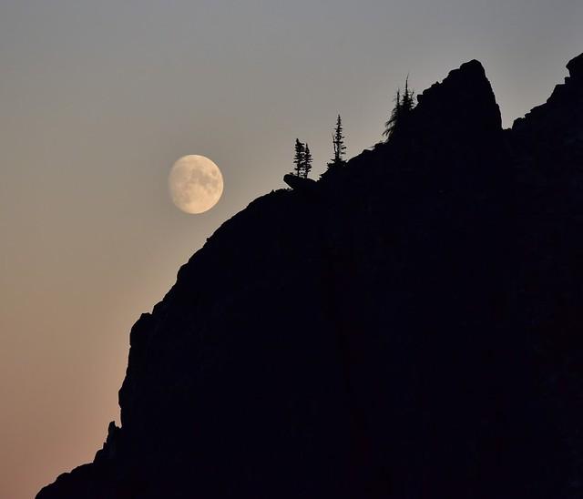 Moon over the Pasayten