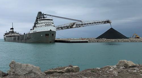 Frist Vessel at Port Expansion Unloading
