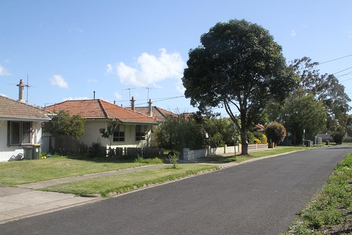 Heritage listed concrete houses on Leith Avenue, Sunshine