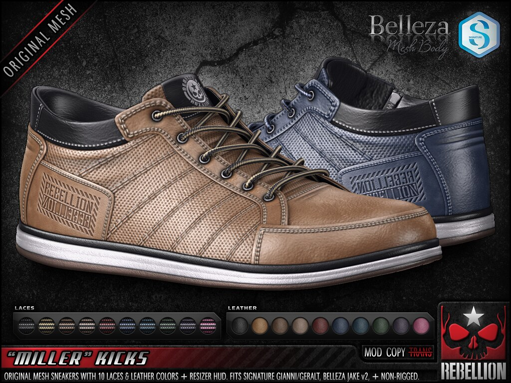 "= REBELLION = ""MILLER"" KICKS"