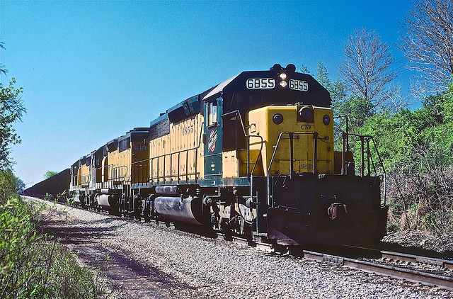 CNW SD40-2 6855, St John, IN
