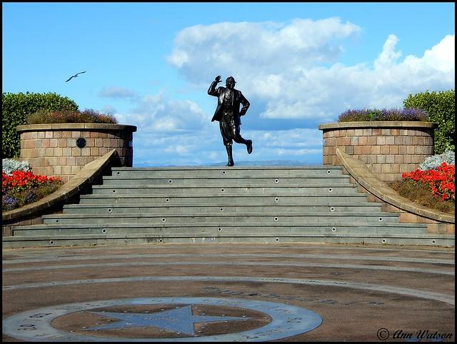 Eric Morecambe Statue, Morecambe, Lancashire, UK