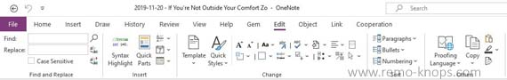 Gem for OneNote 2016 review - Toolkit to supercharge OneNote 219