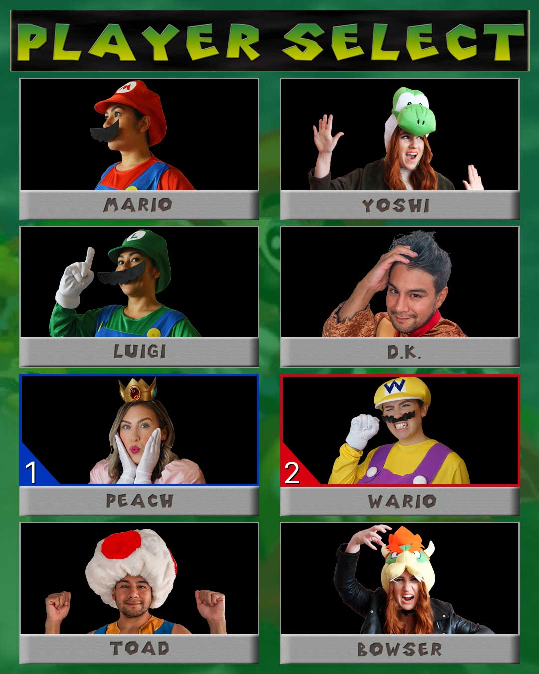 Mario Kart Costumes | Super Mario Brothers Costumes | Mario Luigi Princess Peach Cosplay | The Funniest Group Halloween Costumes for your Virtual Party | Zoom Halloween Costumes | Virtual Halloween Costume Ideas | Gamer Cosplay | Nintendo Costume