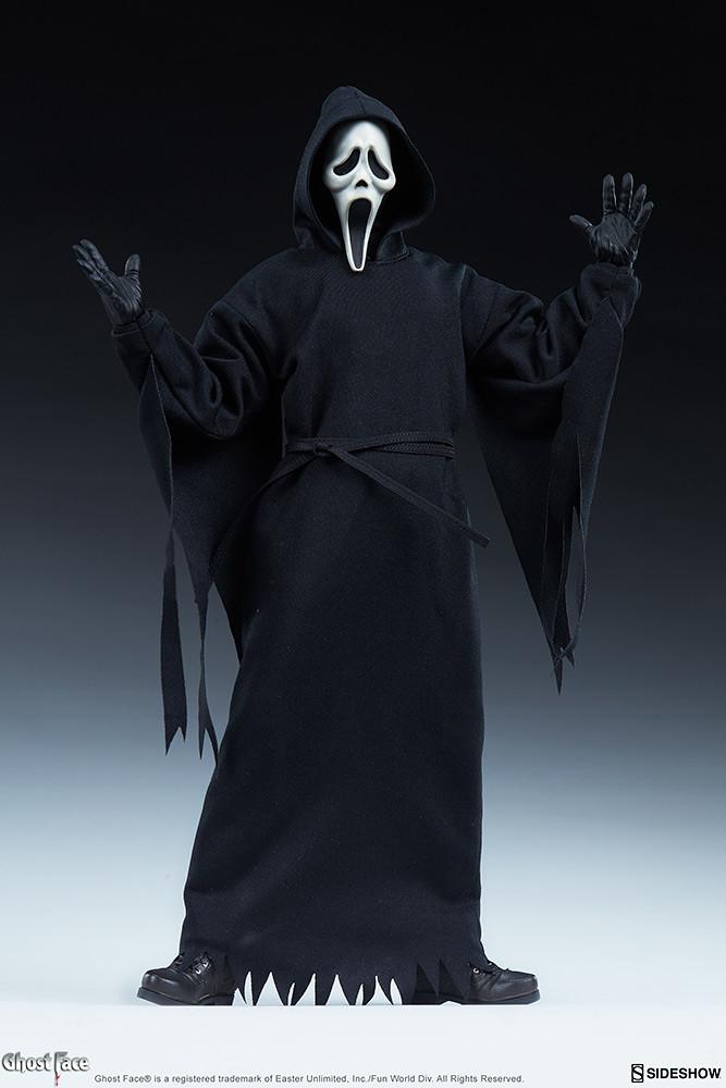 Sideshow《驚聲尖叫》面具殺人狂「Ghost Face」1/6比例人偶