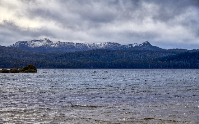 The Hugel Range from Frankland Beaches