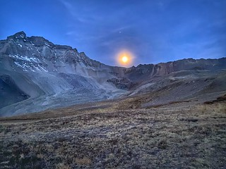 Harvest moon over Yankee Jim Basin | by Phil Turk