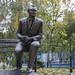 Monument to «Dynamo» Kyiv coach Valery Lobanovsky. Kyiv. Ukraine.